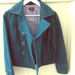 AE Teal Jacket with Purple Lining